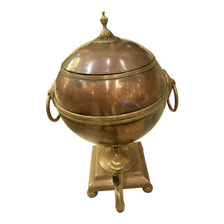 Antique English Georgian Copper Samovar For Sale