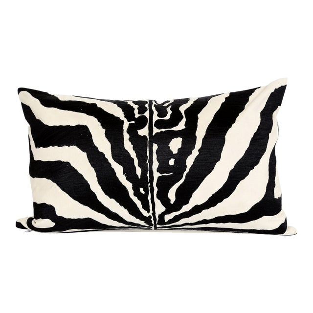 Embroidered Zebra Accent Pillow - NEW! - Image 1 of 4