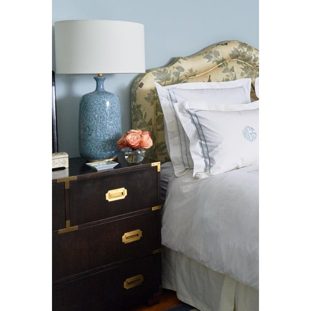 Baker Mid-Century Campaign Mahogany Chest of Drawers For Sale - Image 10 of 11