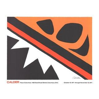 """Alexander Calder La Grenouille Et La Scie (Large) 25"""" X 32"""" Lithograph 1971 Surrealism Orange, Red For Sale"""