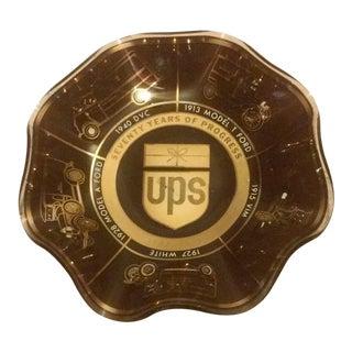 Vintage UPS Brown Glass Bowl For Sale
