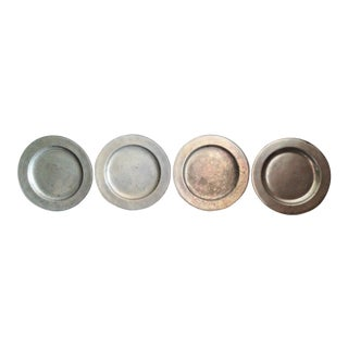 Wilton Pewter Chargers Plates - Set of 4