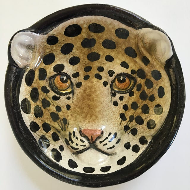 Italian Mid-Century Modern Leopard Pottery Bowl/Catchall For Sale - Image 10 of 10
