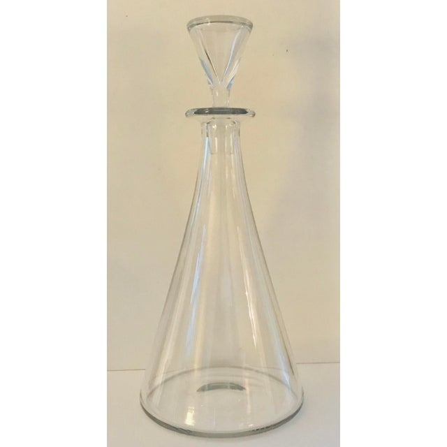 Baccarat Mid Century Modern Crystal Decanter For Sale - Image 13 of 13