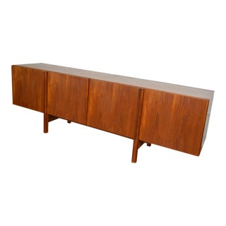 Ib Kofod-Larsen for Faarup Danish Teak Long Credenza