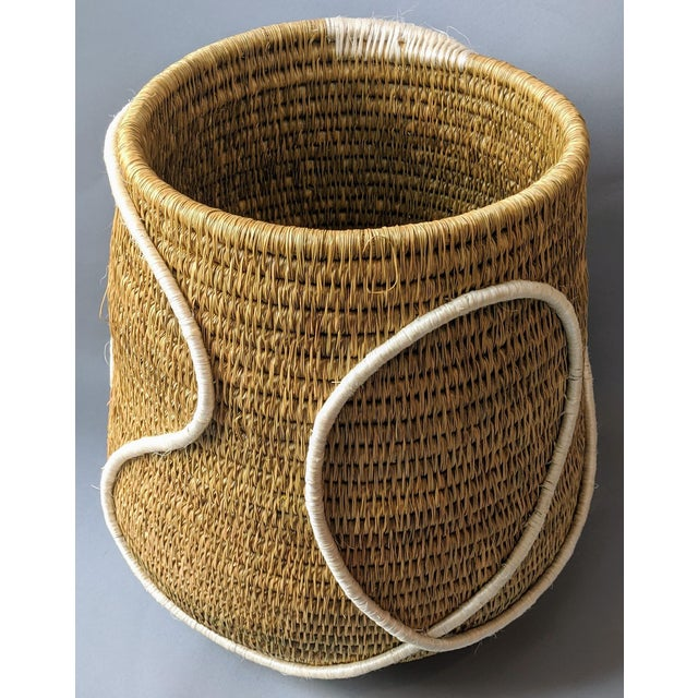 Early 21st Century Swaziland Handwoven African Basket For Sale - Image 5 of 11