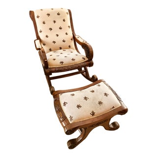 Antique Rocking Chair & Ottoman