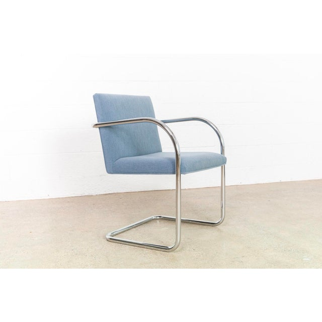 Blue Mies Van Der Rohe Brno Chairs For Sale - Image 8 of 11