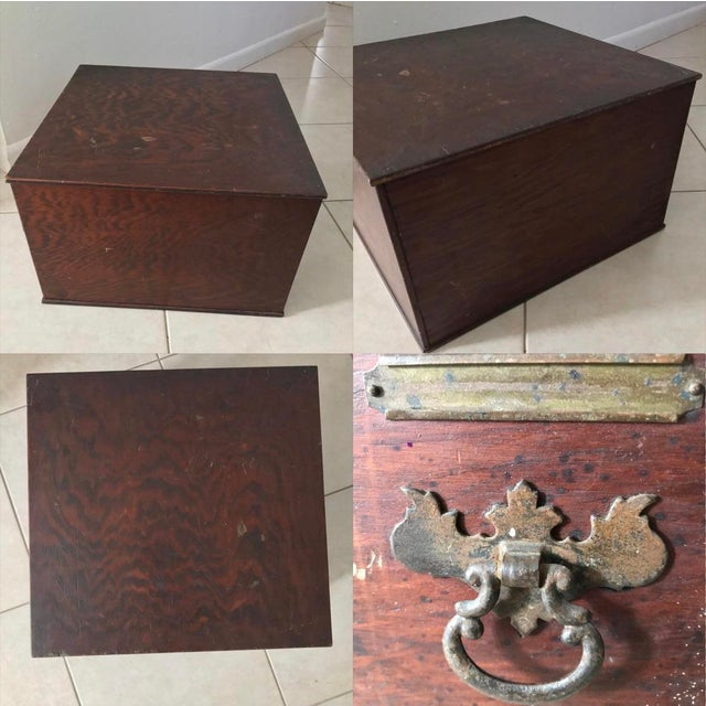 Antique 18th Chippendale Card Filing Library Cabinet For Sale - Image 11 of 13