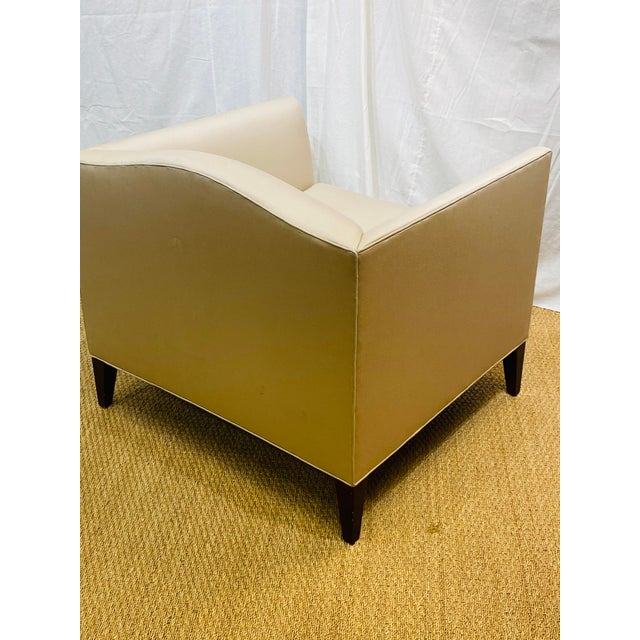 Wood Club Chair by Baker Furniture For Sale - Image 7 of 11
