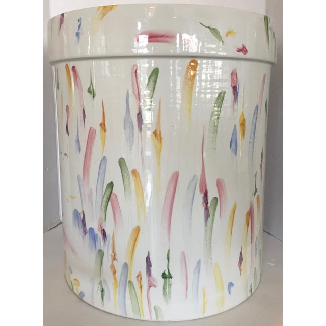 Italian Hand Painted Ceramic Stool - Image 2 of 7