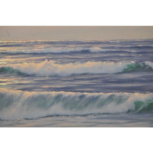 """Coastal Sunset"" Original Oil Painting by R. Lorenz - Image 5 of 8"
