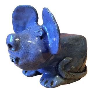 1960's Brutalist Art Pottery Rat Bank For Sale