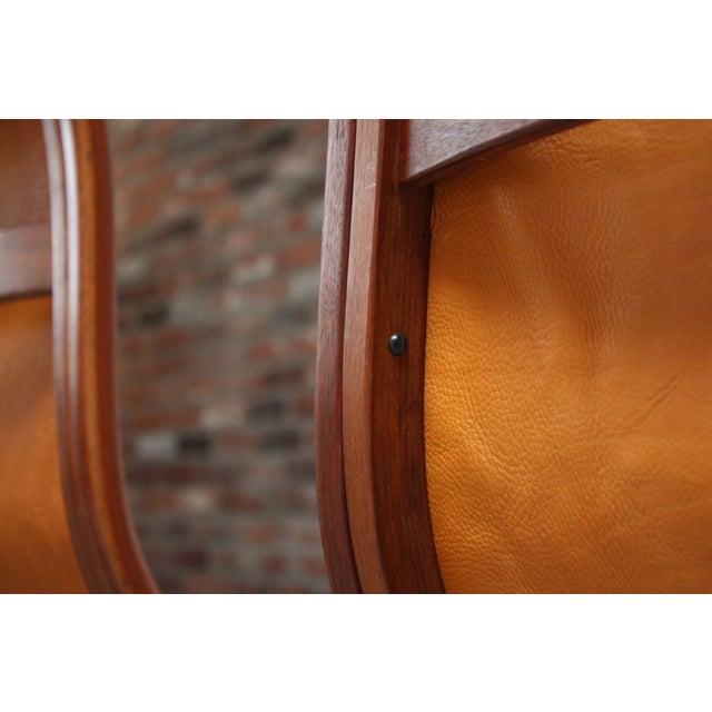 Pair of Swedish Teak and Leather 'Lamino' Chairs by Yngve Ekström For Sale - Image 12 of 13