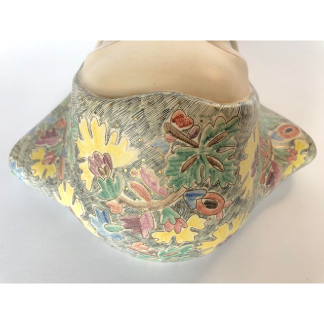 1930s Helen Koenig Scavini Lenci Torino Polychrome Pottery Mask For Sale - Image 5 of 8