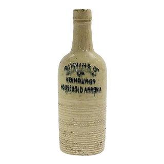 Antique English Laundry Amonia Bottle For Sale