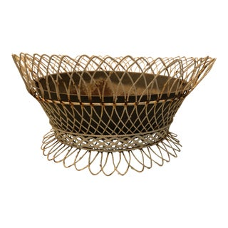 19th Century French Wire Basket For Sale