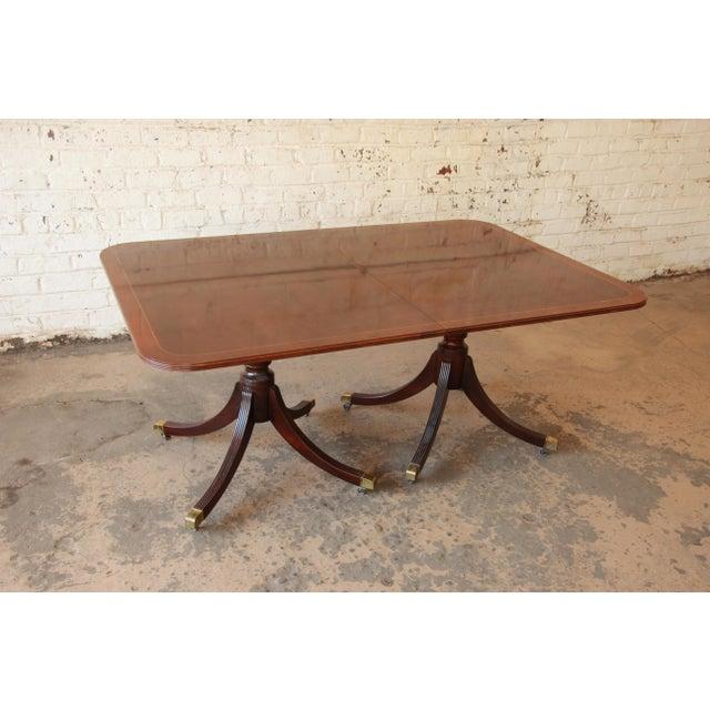 Baker Furniture Historic Charleston Double Pedestal