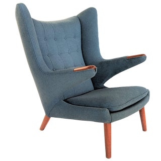 1950s Vintage Hans J. Wegner for A. P. Stolen Papa Bear Chair For Sale