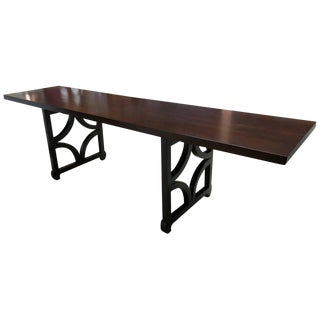 Sculptural Solid Mahogany Console Table by Doug Edge For Sale