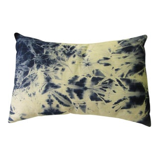 """""""Sela"""" Hand Made Tie Died Denim Pillow For Sale"""