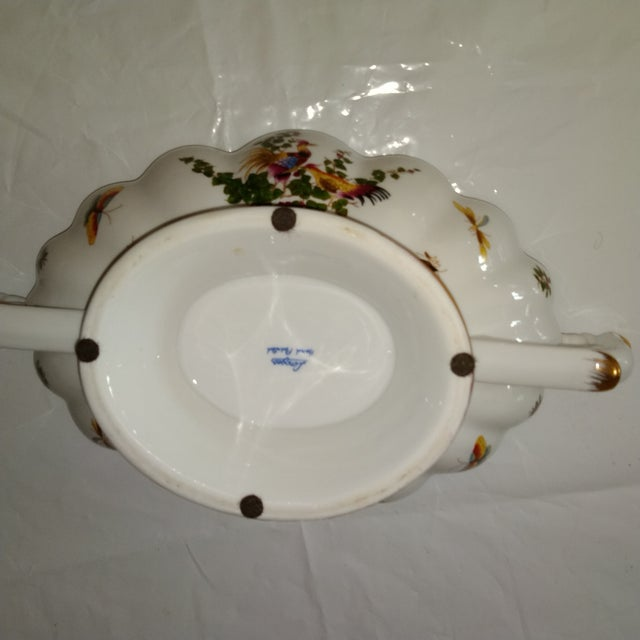 Traditional 20th Century French White and Gold Centerpiece Bowl For Sale - Image 3 of 6