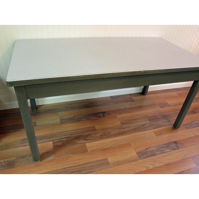 Mid-Century Haskell of Pittsburgh Industrial Table - Image 4 of 9