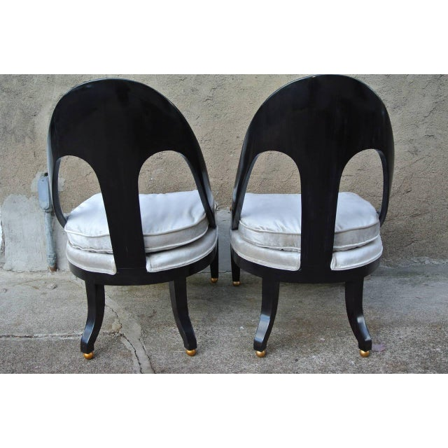 Baker Furniture Company Pr. Neoclassic Chairs by Michael Taylor for Baker For Sale - Image 4 of 10