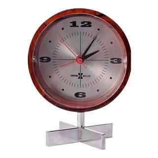 Arthur Umanoff for Herman Miller George Nelson Works Table Desk Clock For Sale