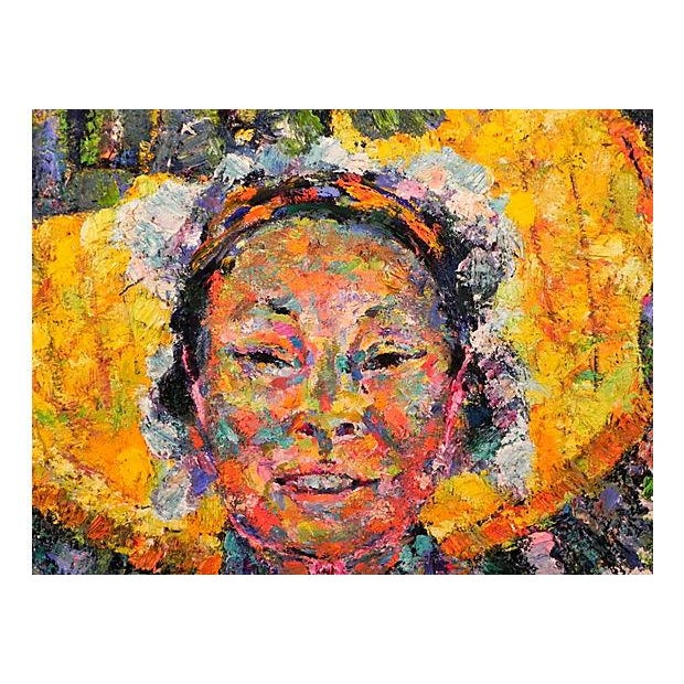 """Huaca Woman"" Painting by Texana - Image 2 of 3"