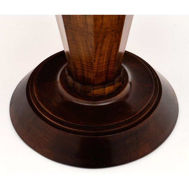 Brown Art Deco Period Walnut Gueridon Table For Sale - Image 8 of 10