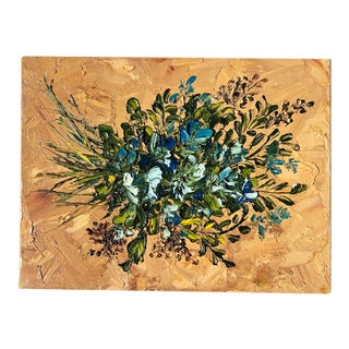 Contemporary Bouquet Oil on Canvas Painting For Sale