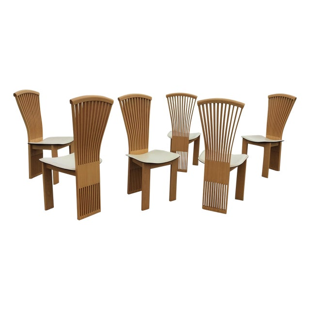 Pietro Costantini Maple Dining Chairs - Set of 6 - Image 1 of 11