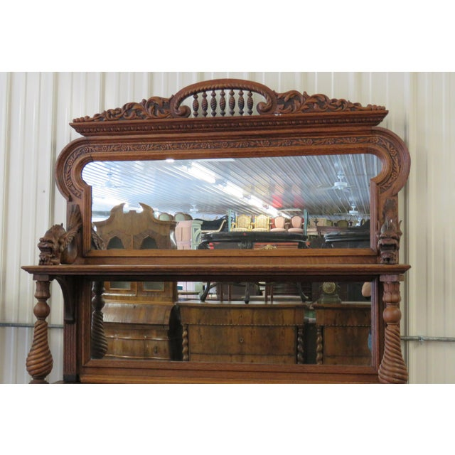 Early 20th Century Renaissance Style Sideboard With Superstructure For Sale - Image 4 of 9