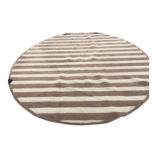 Edward Fields Stripe Oval Rug-9′ × 11′11″ For Sale