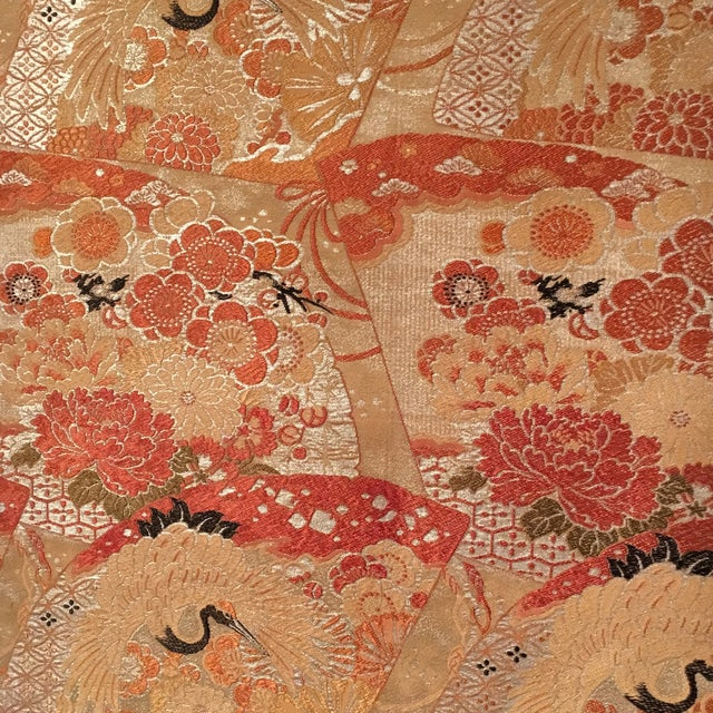 Vintage Japanese Silk Wall Tapestry For Sale - Image 5 of 7