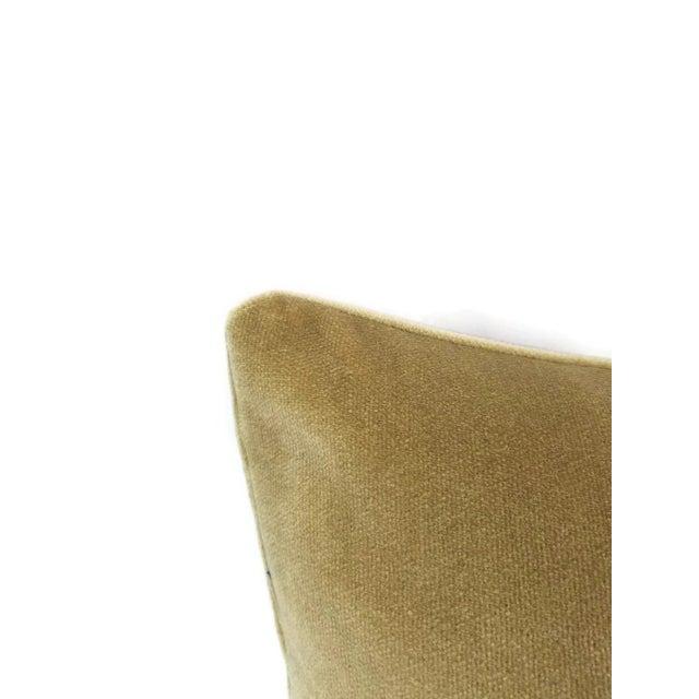 2010s Holly Hunt Aqua Velvet Sand Pillow Cover For Sale - Image 5 of 10