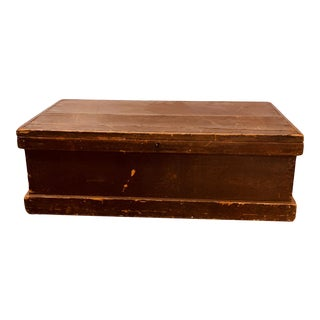 Vintage 1950s Wooden Chest For Sale