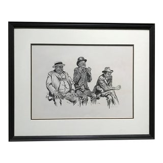 """Two Strikes and the Bases Full"" Illustration by Charles Dana Gibson For Sale"