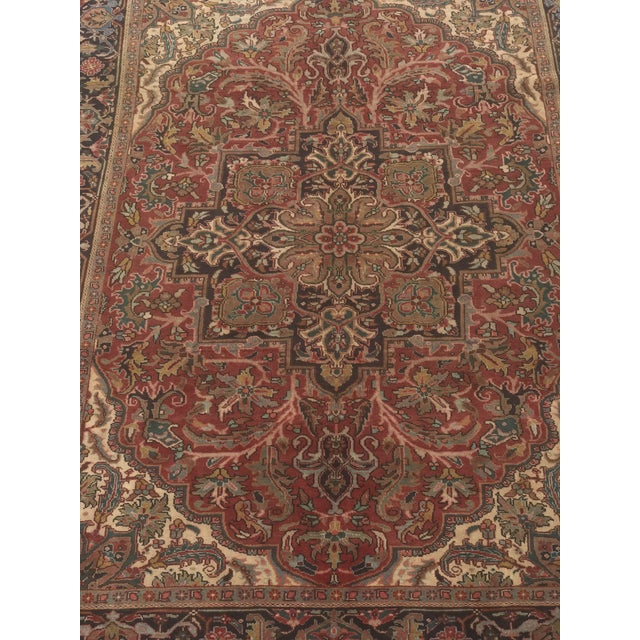 """Thick & Hearty Vintage Persian Ahar Area Rug - 7'3"""" x 10'5"""" - Image 3 of 11"""