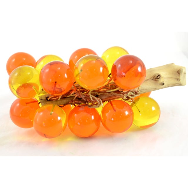1960s Orange & Yellow Lucite Grapes - Image 6 of 7