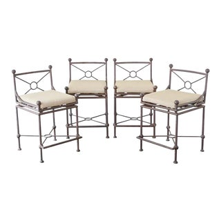Mario Papperzini for Salterini Style Barstools - Set of 4 For Sale