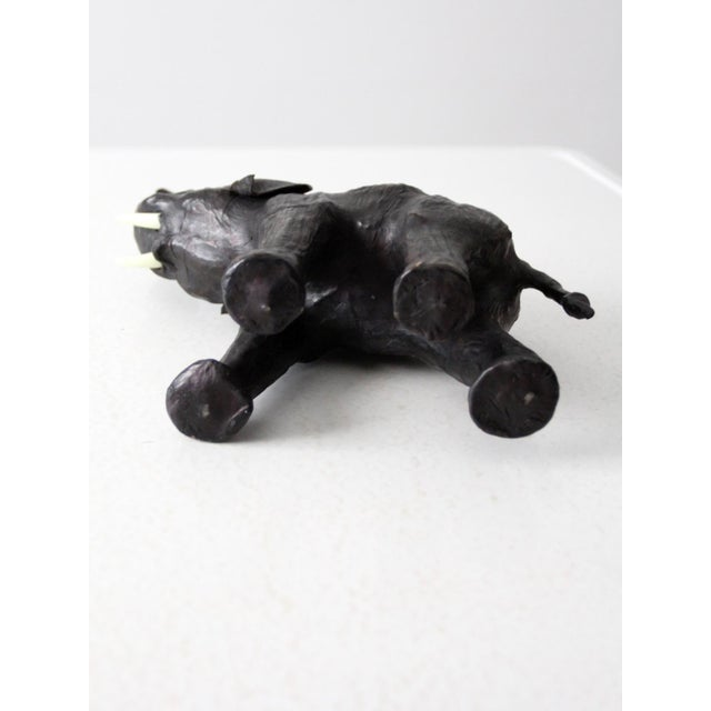 Vintage Leather Elephant Figure For Sale - Image 4 of 10