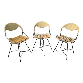 Arthur Umanoff Wood Slat Chairs - Set of 3