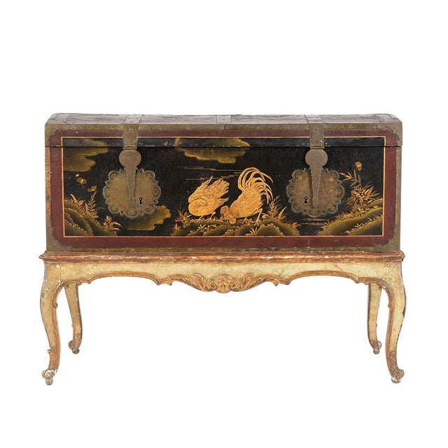 Mid 19th Century Spanish Chinoiserie Trunk For Sale - Image 13 of 13