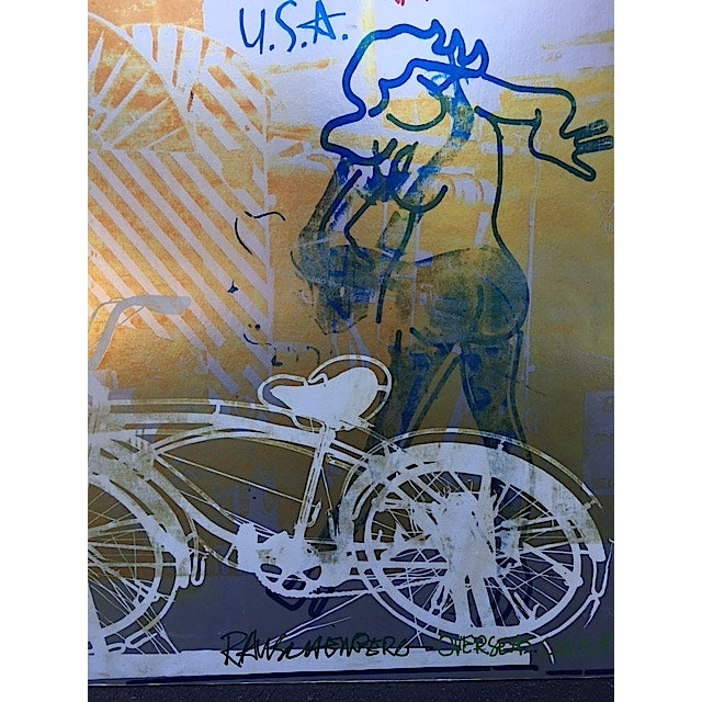 Bicycle, Mounted Rauschenberg Exhibition Poster - Image 4 of 7