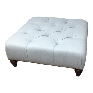 Custom Wool Cocktail Ottoman For Sale