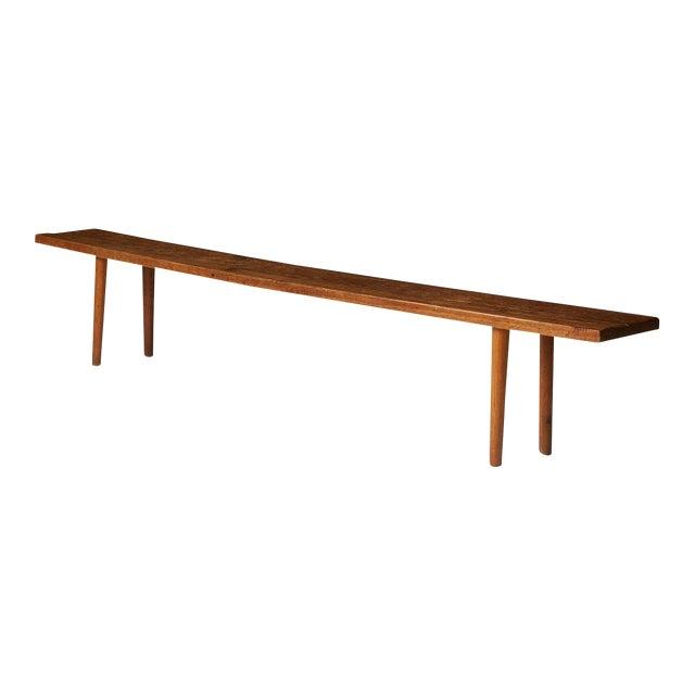 Oak Bench by Jean Touret for Atelier Marolles For Sale