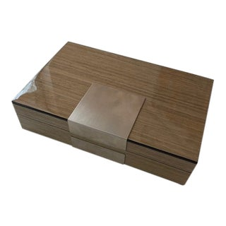 Fine Lacquered Box in Natural Wood For Sale