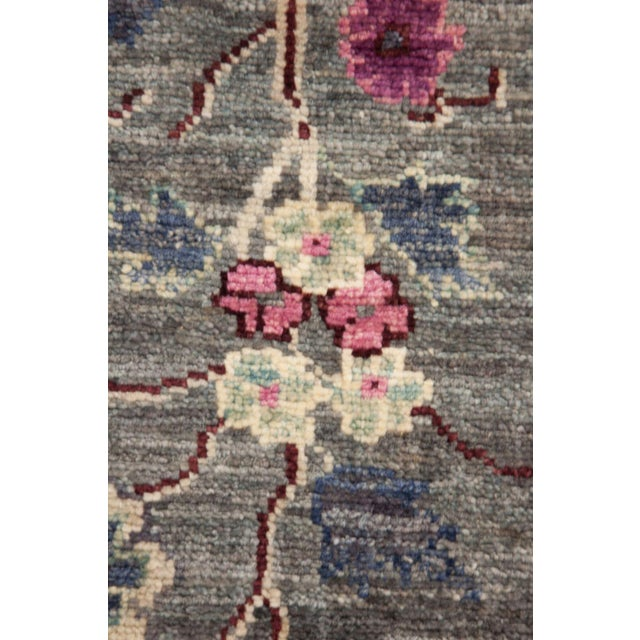 "Suzani, Hand Knotted Ivory Wool Area Rug - 8' 1"" X 10' 0"" - Image 3 of 3"